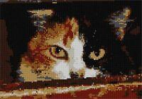 Menacing Cat Needlepoint Kit or Canvas (Animal)