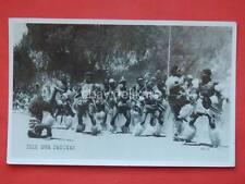 SOUTH AFRICA ZULU War Dancers old postcard