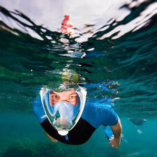 Snorkel Mask Full Face New 180° Curve Panoramic Diving Mask Larger View L/XL