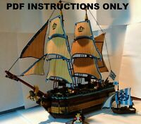 "Lego Pirate ""Boreas's Haul"" Merchant/Trading Ship MOC [PDF BUILDING PLANS ONLY]"