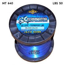 FILO MULINELLO EXTERMINATOR mt 640  BLU  TRAINA BIG GAME 50 LB  mm 0,70 IGFA