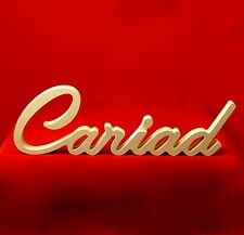 Cariad      Freestanding Wooden Word Sign - Unpainted MDF
