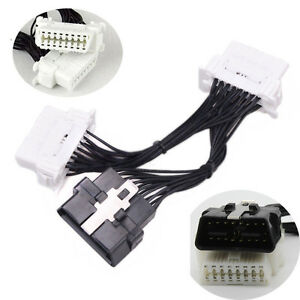 obd splitter cable extension auto car connector fully wired