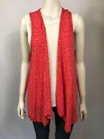 Vigorella one size red NWOT's bamboo blend sleeveless cardigan
