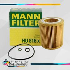 Set of 1 MANN FILTER HU816X Gaskets and Seal BMW Oil Filter 100% GENUINE