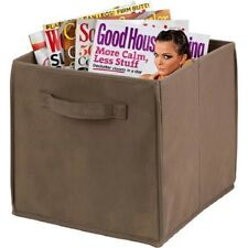 New Honey Can Do 4-Pack Non-Woven Foldable Cube, Taupe - Free Shipping
