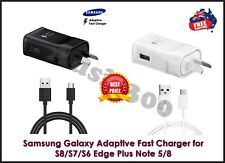 GENUINE SAMSUNG FAST Wall Charger & Cable Galaxy S6 S7 S8 S9 S10 S20+ Note 8 9