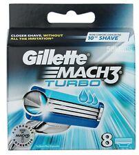8x Gillette Mach3 Turbo Rasierklingen / 8er in OVP Gillete Gilette Gilete Trubo