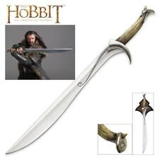 """The Hobbit Thorin Oakenshield 39"""" Orcrist Sword with Plaque United Cutlery COA"""