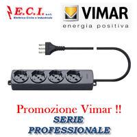 VIMAR 01292.CC MULTIPRESA CIABATTA UNIVERSALE 4 POSTI + CAVO PROFESSIONALE