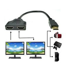 Multi prises HDMI mâle vers doubles HDMI Femelle Adaptateur connecteur