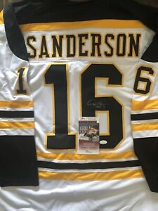Derek Sanderson Signed Custom Bruins Jersey (JSA)