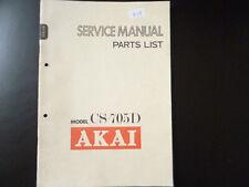 Original Service Manual Schaltplan AKAI CS-705D