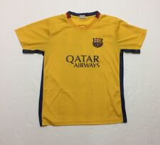 FC Barcelona Jersey Home Shirt Messi Team Soccer Football Size Small FIFA Yellow
