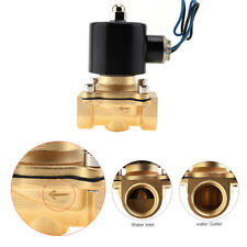 "DC 12V 1/2"" NPT Inlet Electric Solenoid Water Air Valve Gas Flow Control Brass"