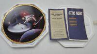 Star Trek The Voyagers USS Enterprise NCC-1701 Plate Hamilton Collection 4963