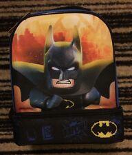 Lego The Batman Movie Lunch Bag Box School Travel Double Compartment NWT