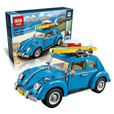 New Creator Series City Car Volkswagen Beetle model Building Blocks Blue Car Toy