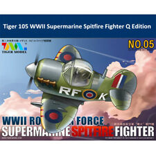 Tiger Model 105 WWII Royal Air Force Spitfire Fighter Cute Series Assembly Model