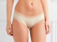 CALVIN KLEIN Black Label Ivory Stretch Lace And Tulle Bikini Brief Size M BNWT