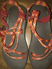 Chaco Womens 9 Red/orange Hiking Sandals
