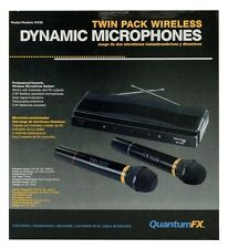 QFX M-336 Wireless Dynamic Professional Microphone System (Twin Pack)