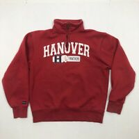 Jansport Mens Hanover Panthers 1/4 Zipper Long Sleeve Red Sweatshirt Size Small