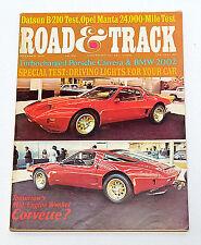Road & Track Mag. Dec. 1973 Opel Manta Porsche Carrara BMW 2002 Wankel Corvette