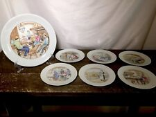 COMPLETE SET OF FRENCH LIMOGES APILCO CHEESE DESSERT PLATE SET