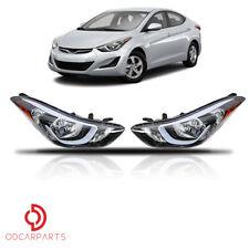 For Hyundai Elantra 2014 2015 2016 Headlight Headlamp Halogen Factory Set 2pcs