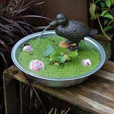 Wasserspeier Ente, inkl. Pumpe  braun Miniteich Wasserspiel inkl. Pumpe Figur