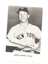 New York Yankees team issued 5x7 photo Mickey Mantle