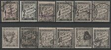 "FRANCE STAMP TIMBRE TAXE N°10/21 "" 12 VALEURS "" OBLITERES TB/TTB"