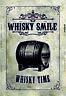 Whisky Cañón Barrel Letrero de Metal Placa Signo Arqueado Cartel Lata 20 X 30CM