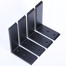 """4 Heavy Duty Black Steel 6""""x8"""" Countertop Support Brackets! Corbel Lot L Shelf"""