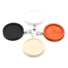 10pcs/Lot Wood Mixed Colors Round Bezel Tray Base Pendant Charms DIY Jewelry