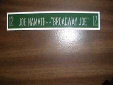 JOE NAMATH NAMEPLATE FOR SIGNED BALL CASE/JERSEY CASE/PHOTO