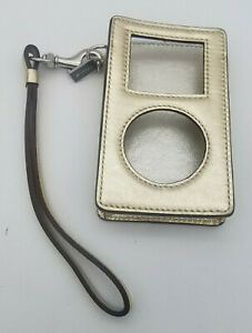 Vintage Coach Gold Leather Classic iPod Case