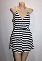 Faith in Love Brand Navy White Striped Playsuit Size 12 BNWT #SS19