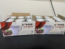 New listing Guest Coffee Mug Tea, Coffee Glass, Set of 12 ( 9 oz, 270ml ) Porcelain