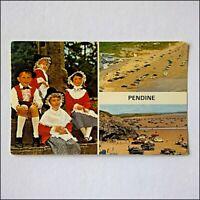 Pendine 3 Views 1984 Postcard (P408)