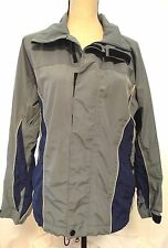 Burton Snowboard Tri-Lite Ski Jacket Coat Size Women's Small Gray Blue S