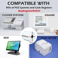 50 rolls 3 1/8 x 230 Thermal Paper Rolls BPA Free cash Register Rolls