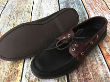 SPERRY TOP SIDER Authentic Original 2 Tone Brown/Black Boat Shoes Men's Size 13