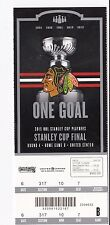 2015 CHICAGO BLACKHAWKS VS TAMPA BAY LIGHTNING STANLEY CUP TICKET STUB GAME #4