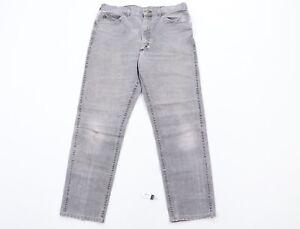 Vintage 70s Lee Mens 34x29 Rockabilly Straight Leg Distressed Jeans Black USA
