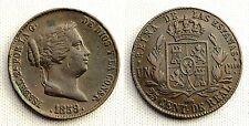 ISABEL II. 25 centimos de Real. 1859. Barcelona. Cobre 9,5 g. XF-/EBC-.