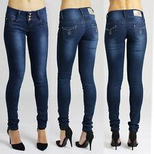 Cotton Blend Indigo, Dark wash L32 Jeans for Women
