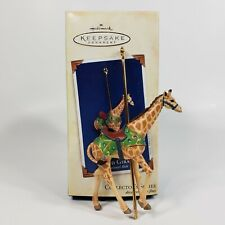 Hallmark Proud Giraffe Carousel Ride Keepsake Ornament 2005