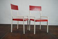 50er Industriedesign Kinderstuhl Vintage Stuhl Retro Metall Holz 60er 1/2